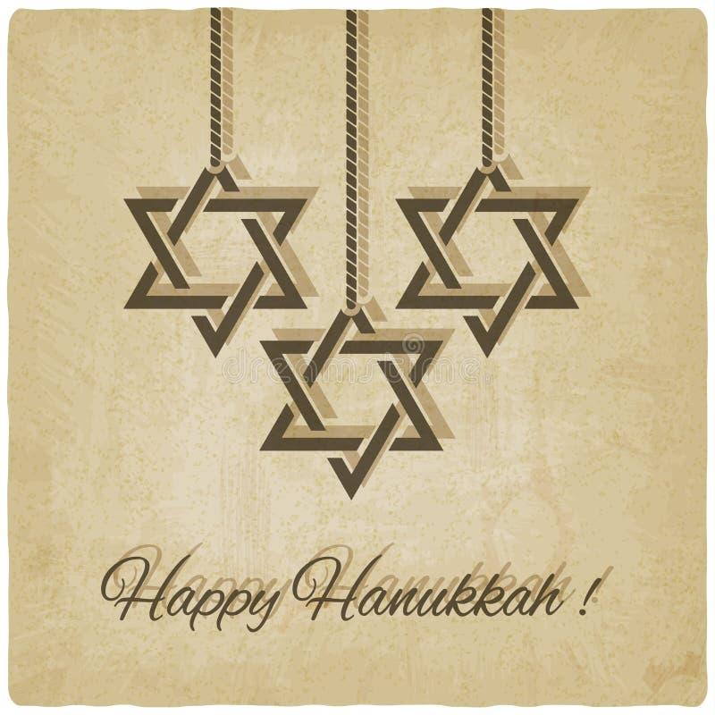 Happy Hanukkah card stock illustration