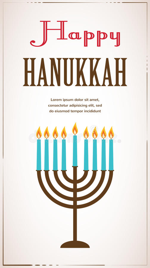 Happy hanukkah greeting card design jewish holiday vector download happy hanukkah greeting card design jewish holiday vector illustration stock illustration illustration m4hsunfo Image collections