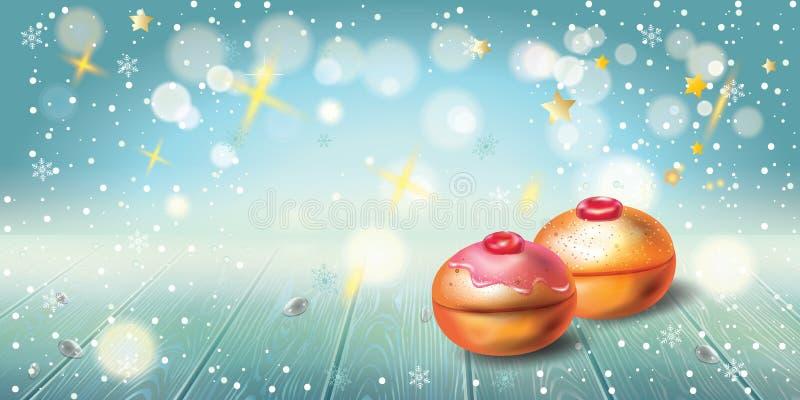 Happy Hanukkah greeting card, menorah, chanuka, dreidel, hanuka background. Happy Hanukkah invitation card with traditional Jewish Holiday Hanuka festival of vector illustration
