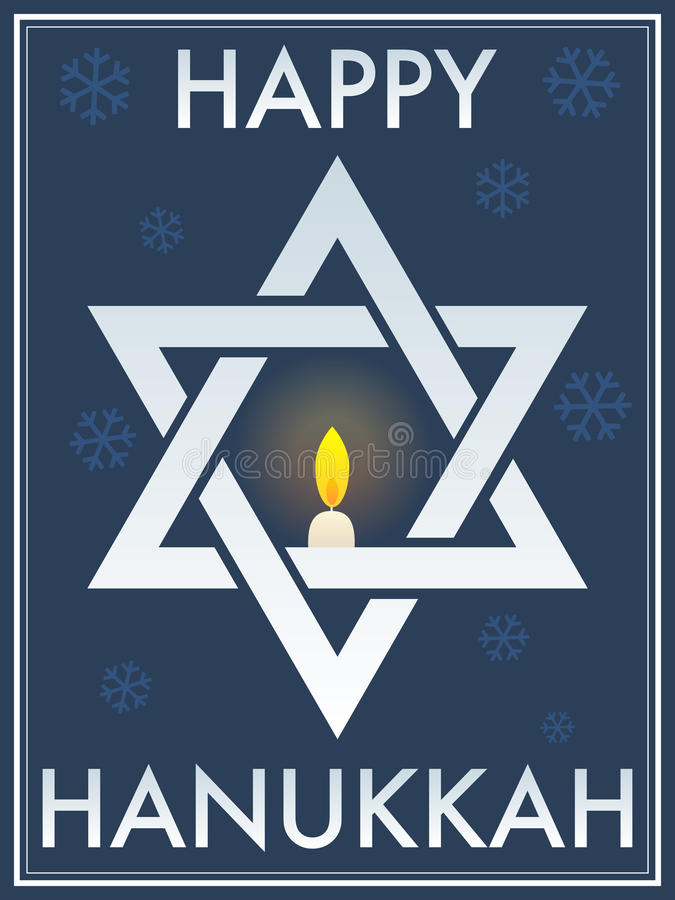 Happy Hanukkah Star Of David royalty free illustration