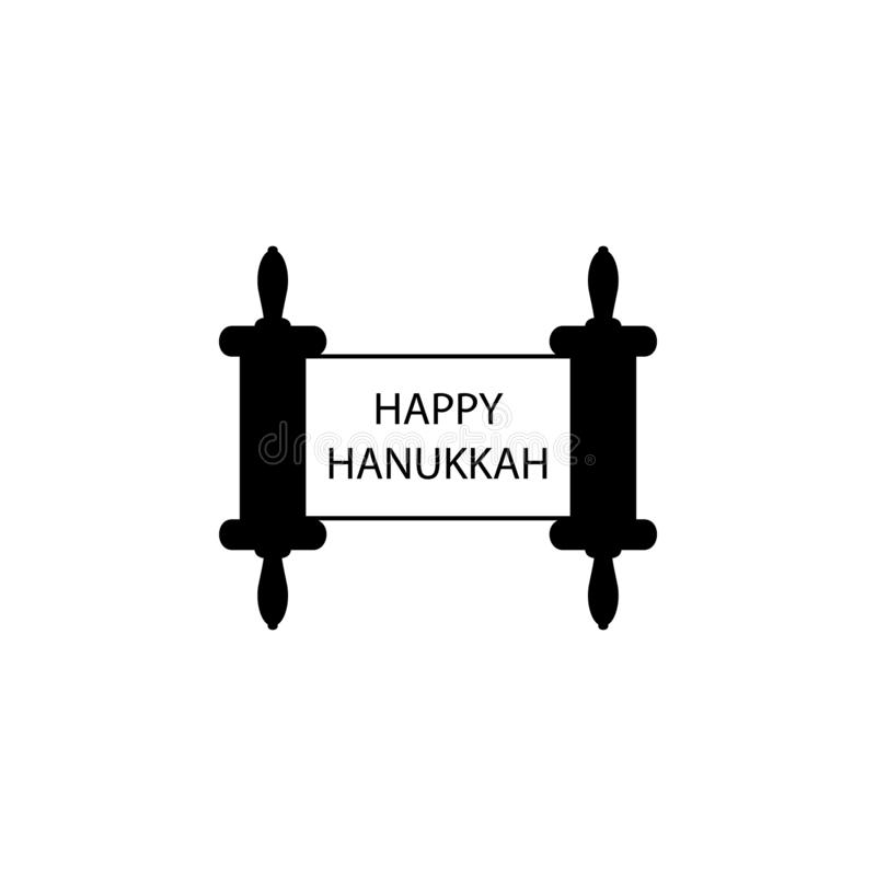 happy hanukkah torah icon. Element of hanukkah icon for mobile concept and web apps. Detailed happy hanukkah torah icon can be use royalty free illustration