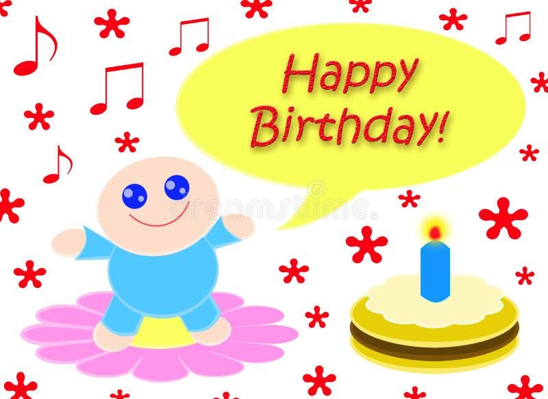 Happy Happy Birthday royalty free stock photos