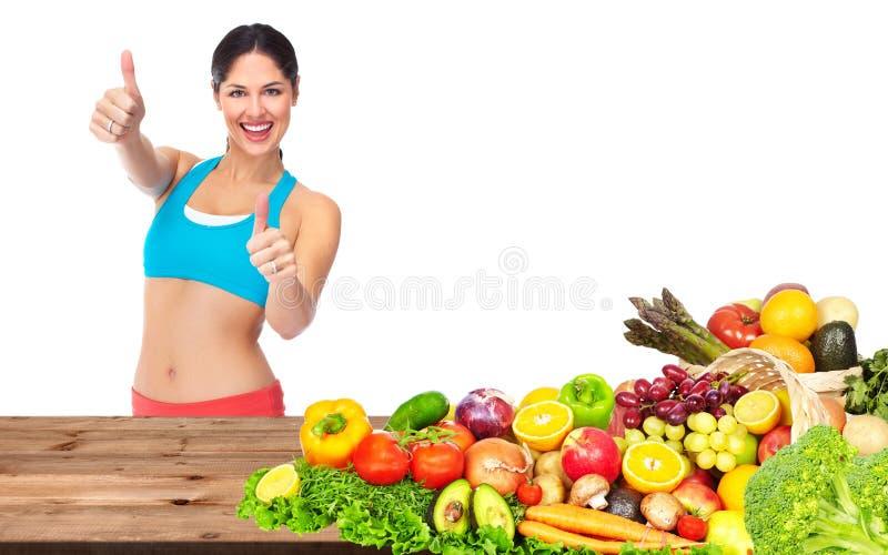 Happy healthy woman stock image