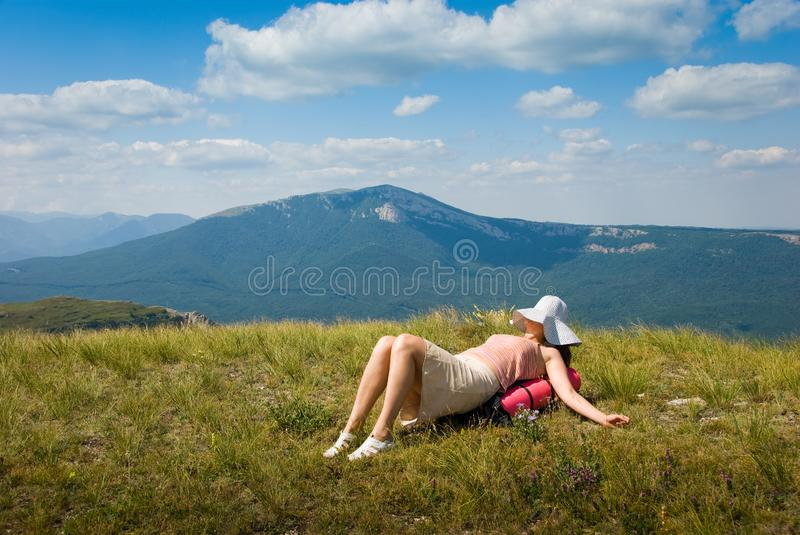 Download Happy hiker stock photo. Image of extreme, conquer, mountains - 7018056