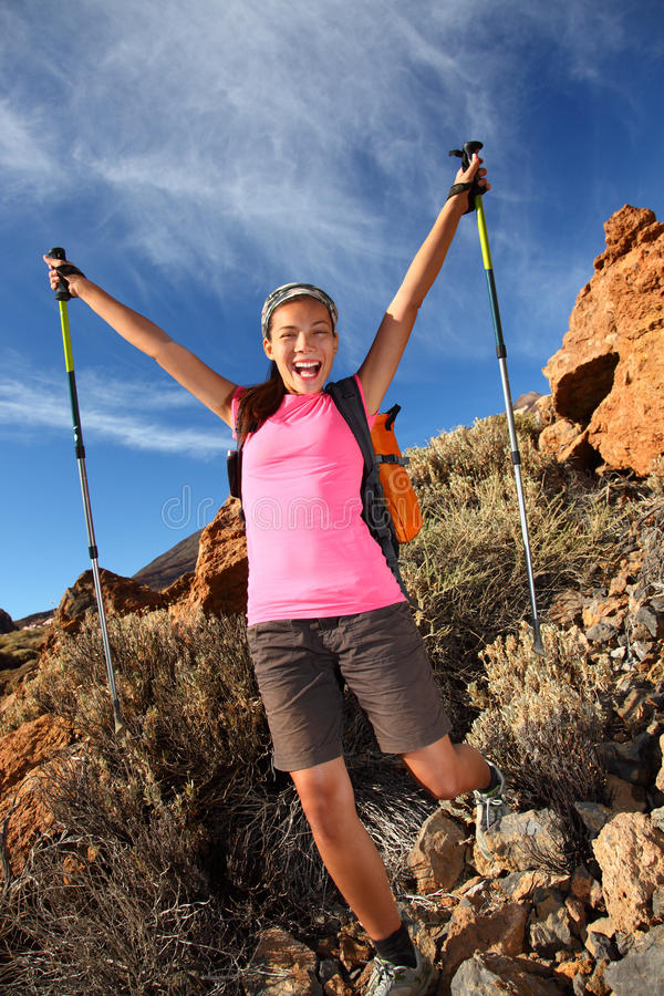 Download Happy hiking success stock image. Image of lifestyle - 12132131