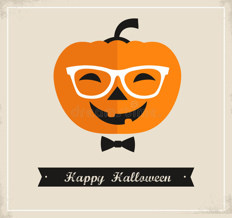 Happy Hipster Halloween Royalty Free Stock Photos