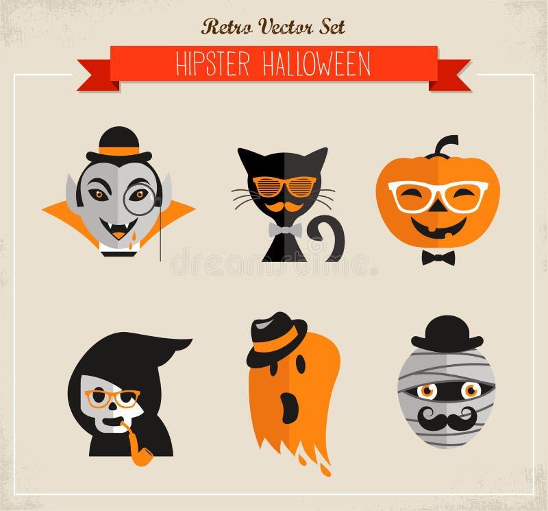 Happy Hipster Halloween stock illustration