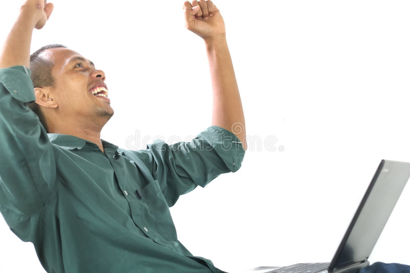 Download Happy with his accomplish stock photo. Image of goal, reach - 6751570
