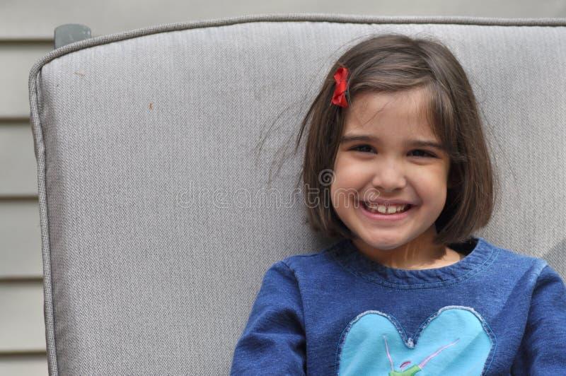 Happy Hispanic Girl royalty free stock photography