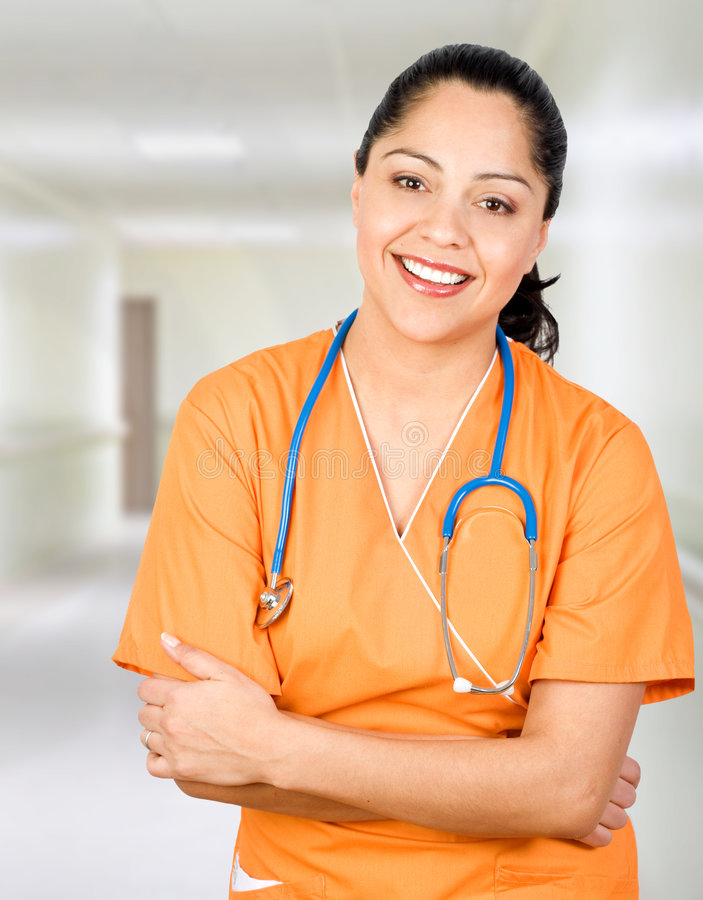 Download Happy Hispanic Health Care Practitioner Stock Image - Image: 8224353