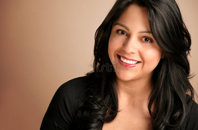 Happy Hispanic Woman royalty free stock images
