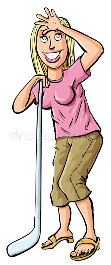 Download Happy Hocky Mom Cheering Her Child Stock Illustration - Image: 30639636