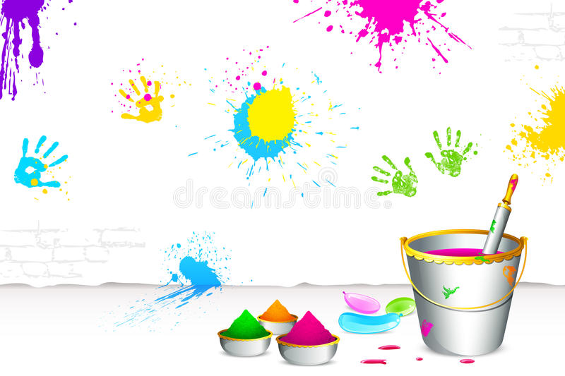 Download Happy Holi stock vector. Image of festival, element, holi - 23516239