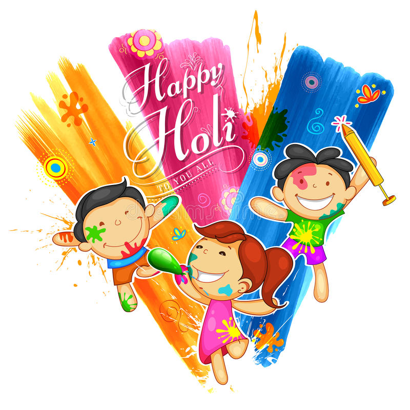 Happy Holi Background for Festival of Colors celebration greetings stock illustration