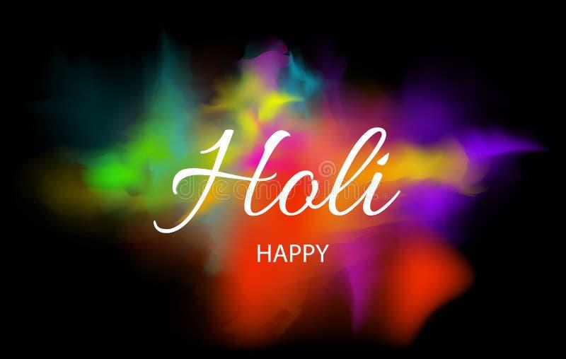 Happy holi for card design. Vector illustration. Happy holi for card design.Vector illustration stock illustration