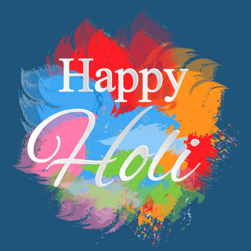 Happy holi elements for card design , Happy holi design. illustration of abstract colorful Happy Holi background. Happy holi elements for card design , Happy royalty free illustration