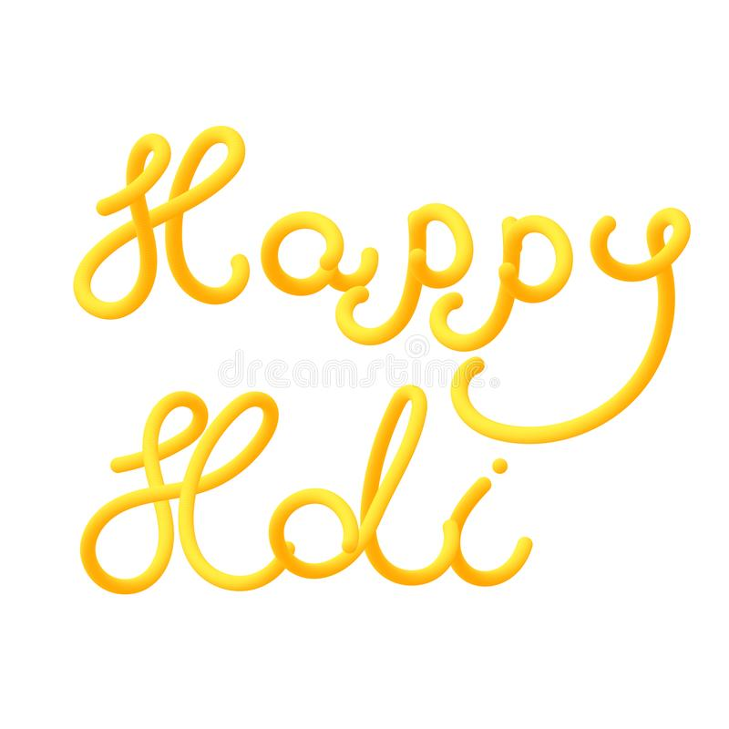 Happy holi greeting card for the festival of bright colors. royalty free illustration