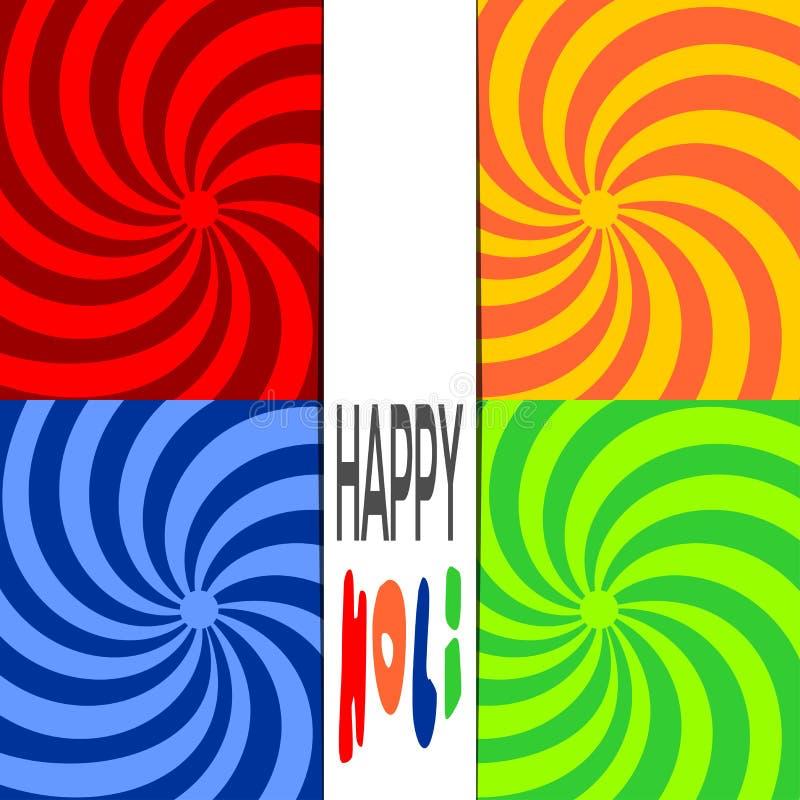 Happy Holi. Stylish colorful holi festival background. Indian festival of colors celebration with text Holi. Vector bright colorful background royalty free illustration