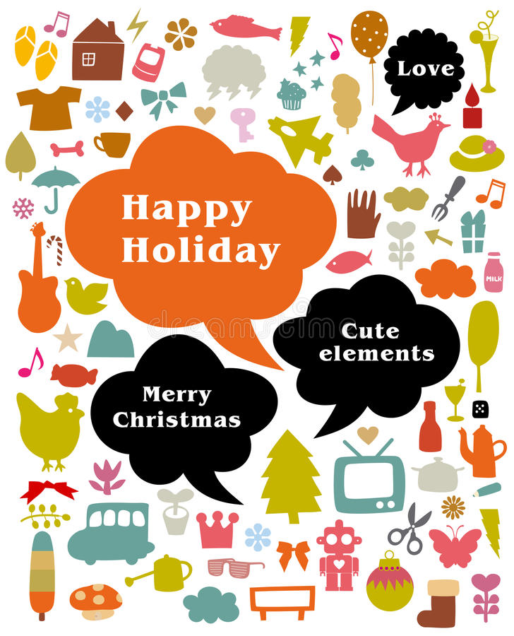 Download Happy holiday stock vector. Image of background, abstract - 9518989
