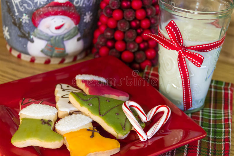 Happy Holiday Cookies stock photos