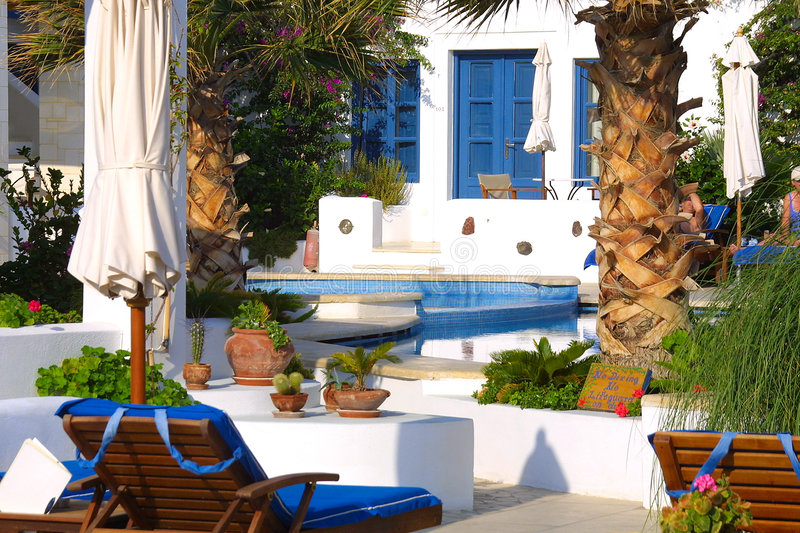Download Happy holiday in greece stock photo. Image of island, pool - 1296530