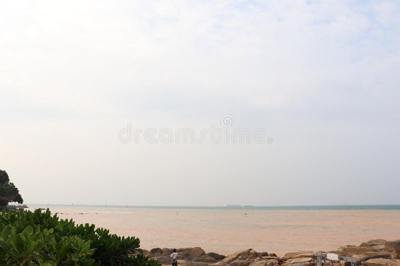 White beach for indonesia summer holiday stock image