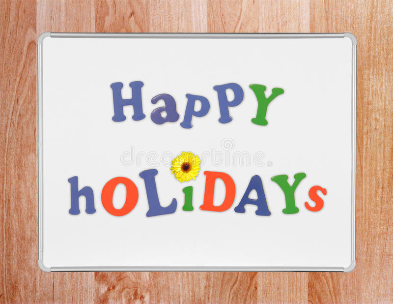 Download Happy Holidays stock photo. Image of flower, whiteboard - 19148860
