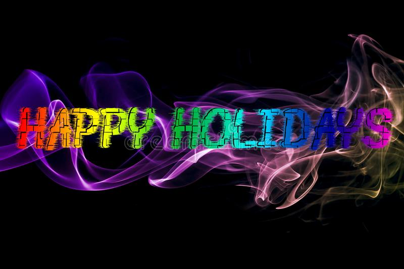 Happy Holidays Abstract Smoke Background royalty free stock photos