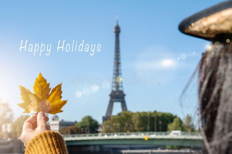 Happy holidays autumn day travel to wonderful city on sunny day stock photography