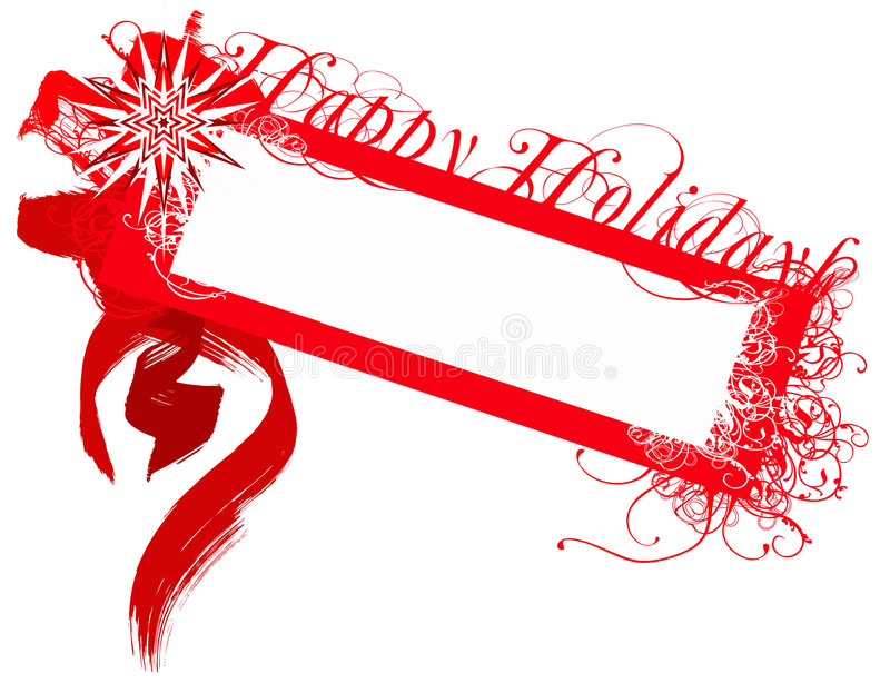 Happy holidays badge stock photo