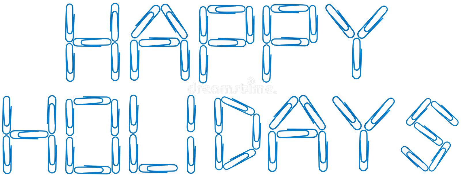 Download Happy Holidays Blue Paper Clips Royalty Free Stock Images - Image: 11270419