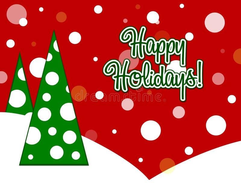 Happy Holidays Card vector illustration
