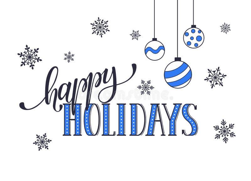 Happy holidays card stock vector. Illustration of season - 65066076