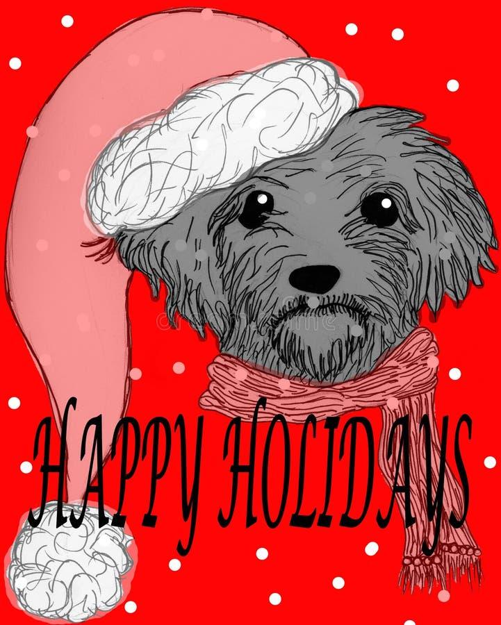 Download Happy Holidays Dog stock illustration. Image of santa - 28319588