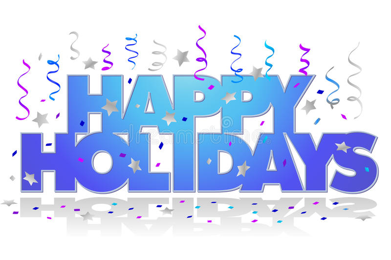 Happy Holidays/eps royalty free illustration