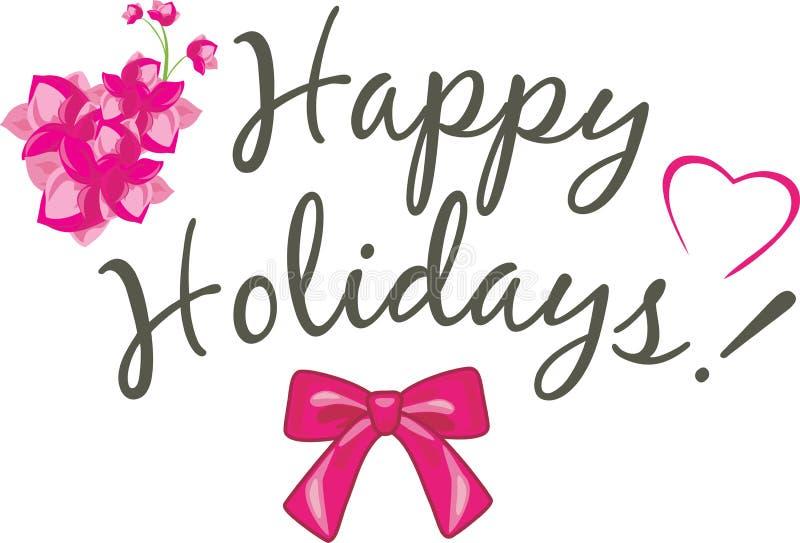 Happy holidays. Festive card design royalty free stock image