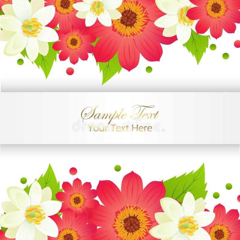 Happy holidays greeting card with frame and flowers stock vector sample yext here appy holidays greeting card with shiny frame and flowers set vector illustration of festival decorated paper for congratulating m4hsunfo