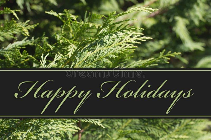 Happy Holidays Greeting stock image
