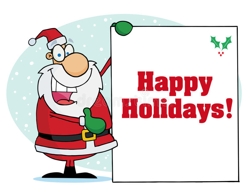 Download Happy Holidays Greeting With Santa Stock Vector - Image: 17057744