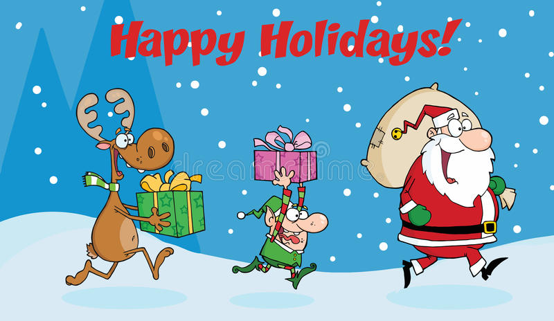 Download Happy Holidays Greeting With Santa Claus Royalty Free Stock Photography - Image: 17263657