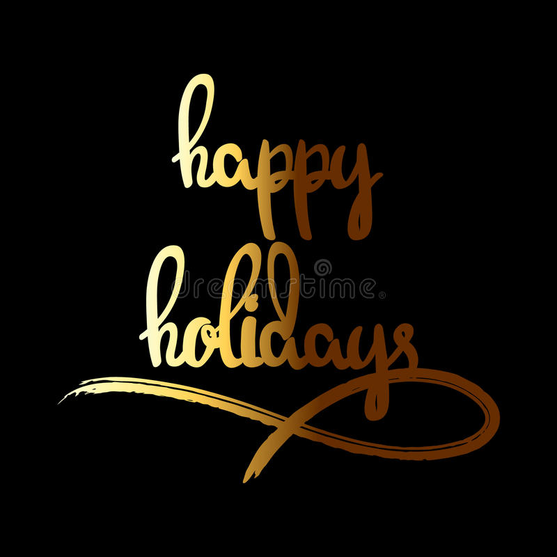 Happy Holidays hand drawn lettering vector illustration