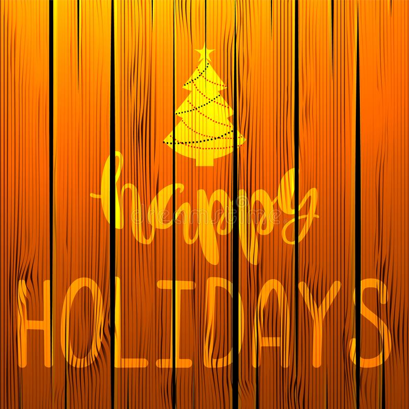 Happy Holidays. Handwritten Lettering. royalty free stock images