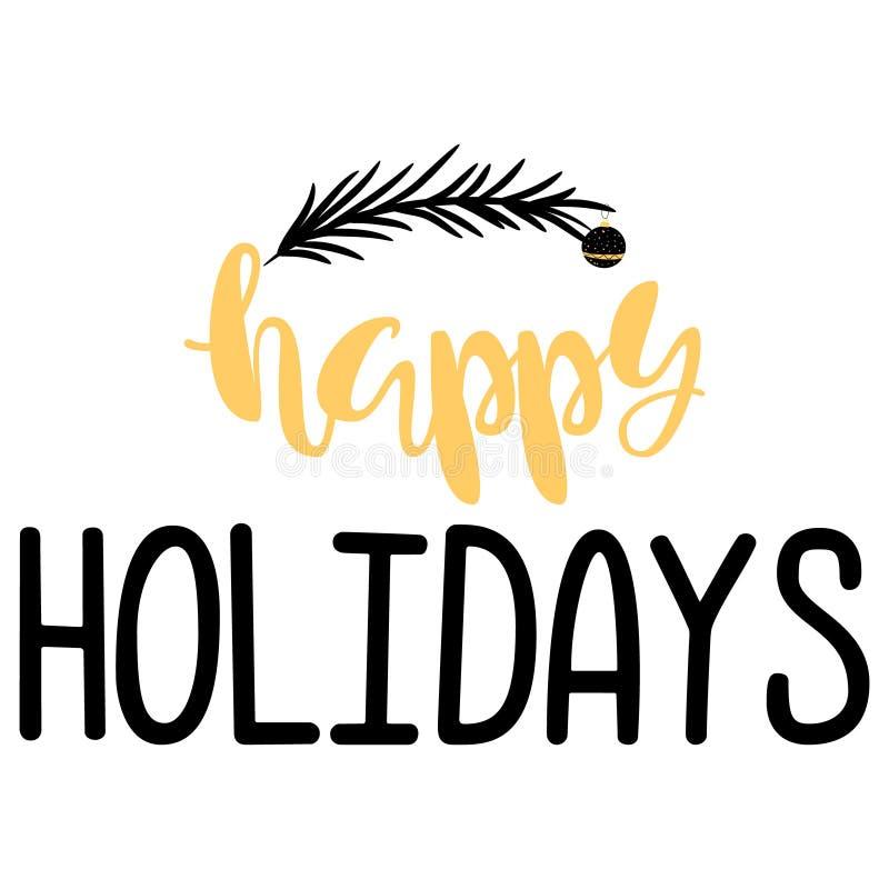 Happy Holidays. Handwritten Lettering. stock photos