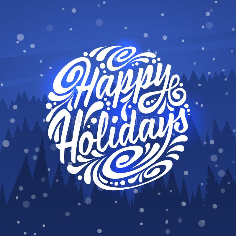 Happy Holidays. Holidays greeting card royalty free illustration