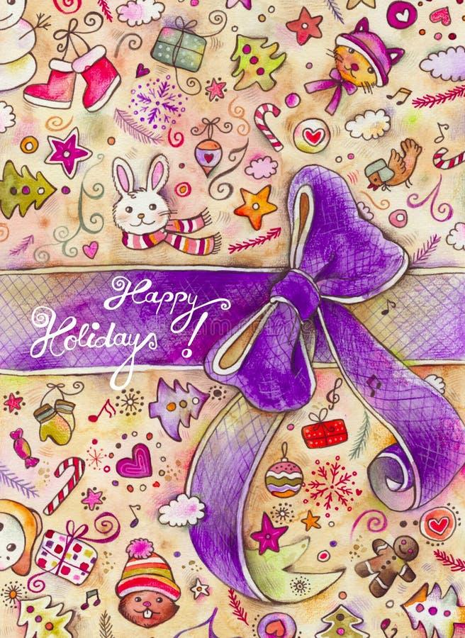 Happy Holidays Illustration vector illustration