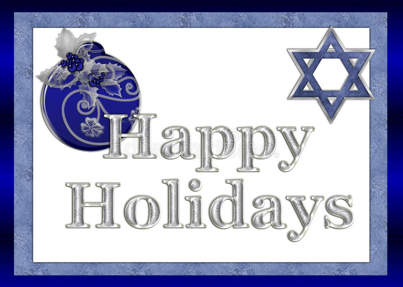 Download Happy Holidays Jewish Greeting Card Stock Photo - Image: 11550900