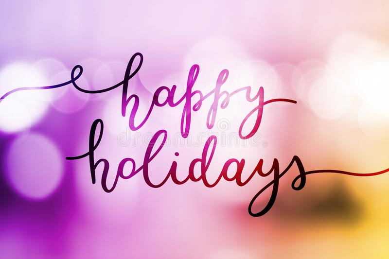 Happy holidays lettering royalty free stock images
