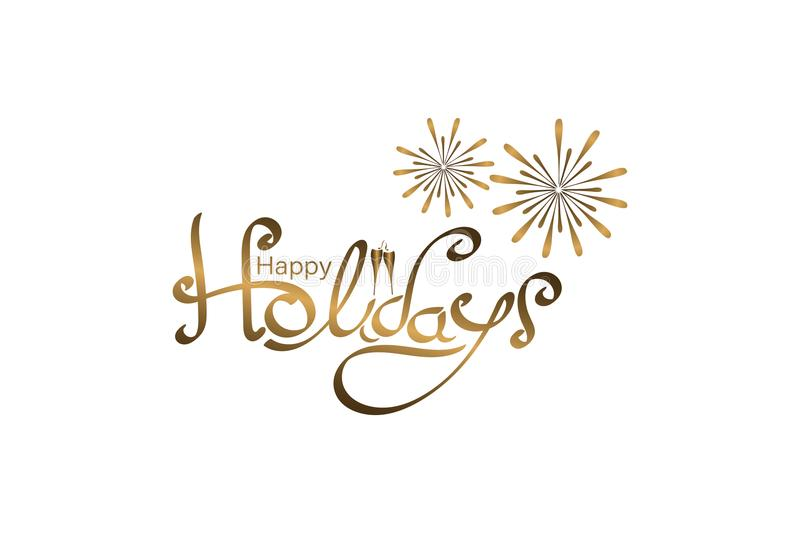 Happy Holidays - lettering stock illustration