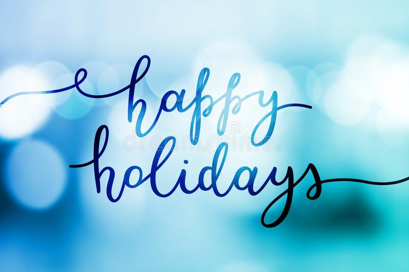 Happy holidays lettering vector illustration