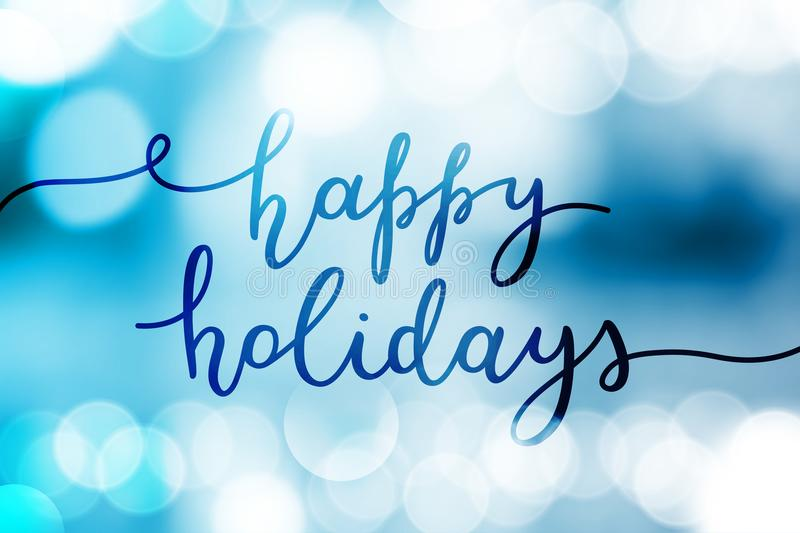 Happy holidays lettering stock illustration